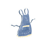 Retro cartoon apron Stock Image