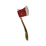 Retro cartoon axe Royalty Free Stock Image