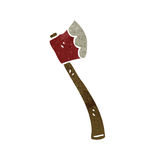 Retro cartoon axe Stock Images