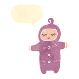 Retro cartoon baby Stock Image