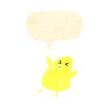 Retro cartoon baby chick Stock Photos