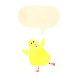 Retro cartoon baby chick Royalty Free Stock Photo