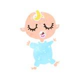 Retro cartoon baby Royalty Free Stock Images