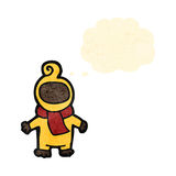 Retro cartoon baby with thought bubble Stock Photos