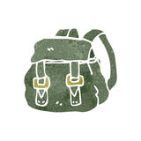 Retro cartoon backpack Stock Image