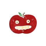 Retro cartoon bad apple Stock Photography