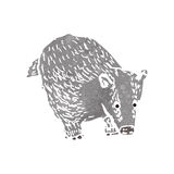 Retro cartoon badger Royalty Free Stock Image