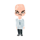 retro cartoon bald head man Royalty Free Stock Photo