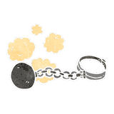retro cartoon ball and chain Royalty Free Stock Images