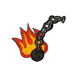 retro cartoon ball and chain Stock Images