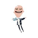 Retro cartoon balloon head man Stock Photo