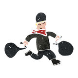 retro cartoon bank robber with bags of cash Royalty Free Stock Photography