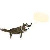 Retro cartoon barking dog Stock Image