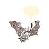 Retro cartoon bat Royalty Free Stock Photos