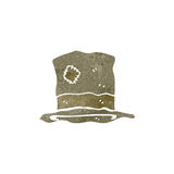 Retro cartoon battered old hat Royalty Free Stock Photos