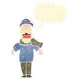 Retro cartoon bearded man shouting Royalty Free Stock Photos
