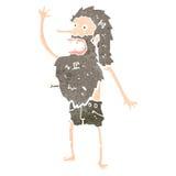 Retro cartoon bearded man Royalty Free Stock Images