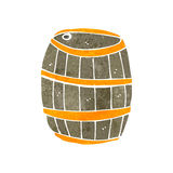 Retro cartoon beer barrel Stock Photography