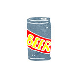 retro cartoon beer can Royalty Free Stock Photography