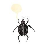 retro cartoon beetle Royalty Free Stock Images