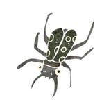 Retro cartoon beetle. Retro cartoon illustration. On plain white background Royalty Free Stock Photos