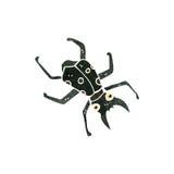Retro cartoon beetle. Retro cartoon illustration. On plain white background Stock Photos