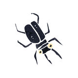 Retro cartoon beetle Royalty Free Stock Images