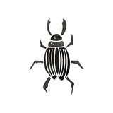 Retro cartoon beetle Stock Photography