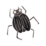 Retro cartoon beetle Royalty Free Stock Image