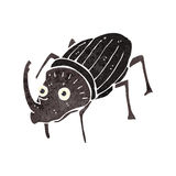 Retro cartoon beetle Stock Photo
