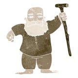 Retro cartoon biblical figure Royalty Free Stock Image