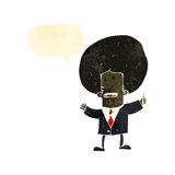 Retro cartoon big hair businessman Stock Photos