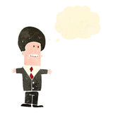 Retro cartoon big hair businessman Stock Photo
