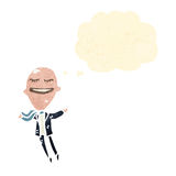 Retro cartoon big head businessman Royalty Free Stock Photo