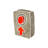 retro cartoon big red push button Royalty Free Stock Images