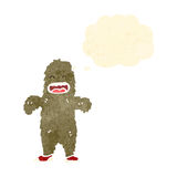 Retro cartoon bigfoot Stock Images