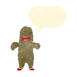 Retro cartoon bigfoot Stock Photography