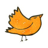 Retro cartoon bird flapping wings Stock Photo
