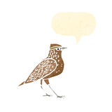 retro cartoon bird singing Royalty Free Stock Image