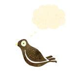 Retro cartoon bird with thought bubble Royalty Free Stock Photos
