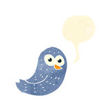 Retro cartoon bird tweeting Stock Image