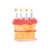 retro cartoon birthday cake Stock Images