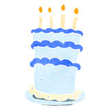 retro cartoon birthday cake Royalty Free Stock Photography