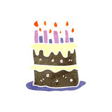 retro cartoon birthday cake Royalty Free Stock Photos