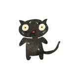 retro cartoon black cat Stock Photography