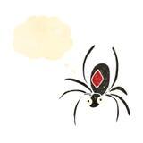 Retro cartoon black widow spider Royalty Free Stock Photos