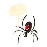 Retro cartoon black widow spider Royalty Free Stock Photo
