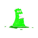 Retro cartoon blob monster Stock Photos