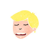 Retro cartoon blond boy Stock Photos