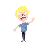 Retro cartoon blond boy Stock Image